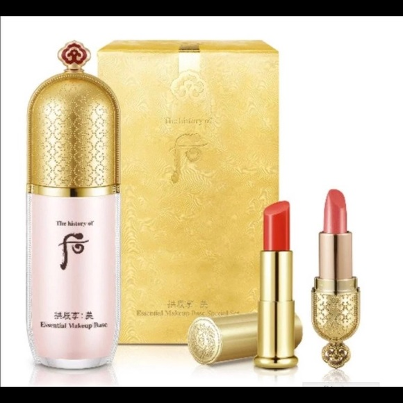 THE HISTORY OF WHOO Other - The History of Whoo Makeup Base Set(w/ lip stick)